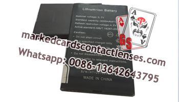 Scanner camera battery