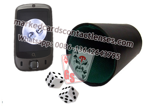 Cup scanner for dice