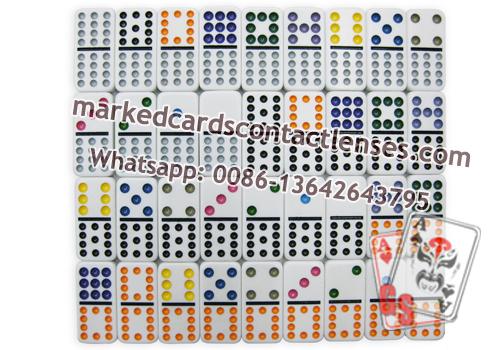 Double 12 dominoes marking