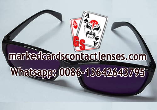 IR marked cards glasses