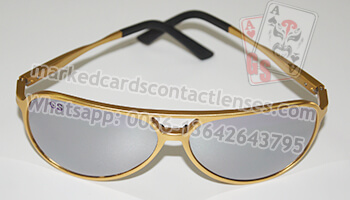 Siver sunglasses to see marked cards