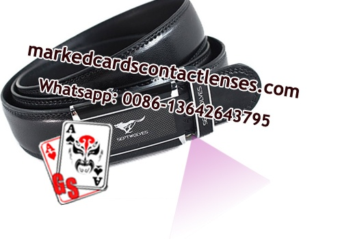 Leather belt poker scanner