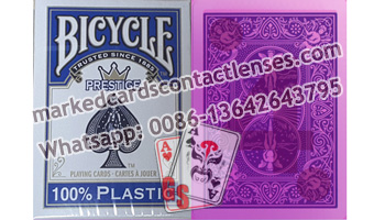 Plastic Bicycle  marked cards