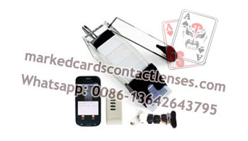 Baccarat marked cards scanner system