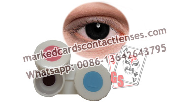 Hazel contact lense for marked cards