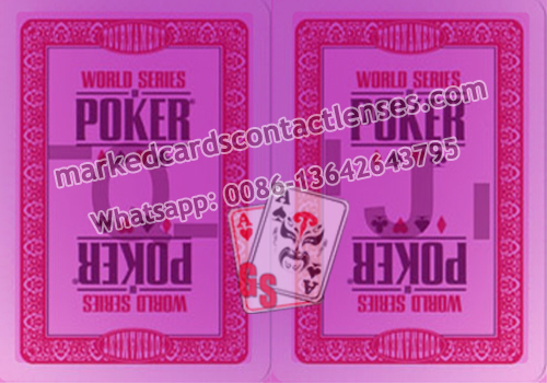 Marked poker cards for WSOP