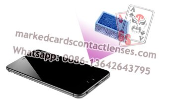 Phone marked cards scanner lens