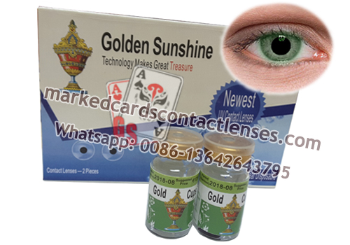 infrared contact lenses with green lens