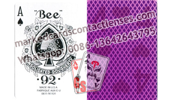 US Bee marked cards