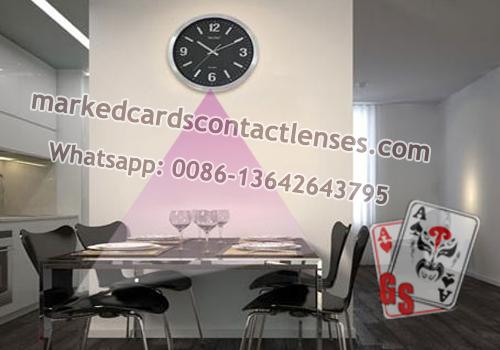 Wall clock poker scanner