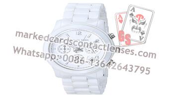 White Digital Watch Marking Deck Scanning Camera