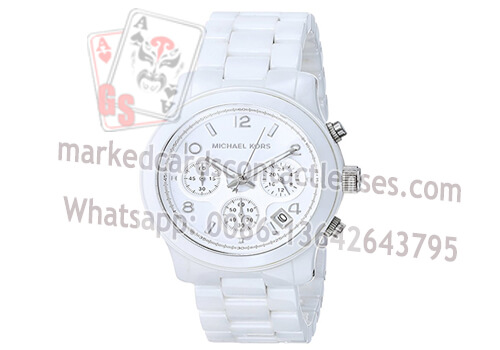 White Digital Watch Marking Deck Scanning Camera